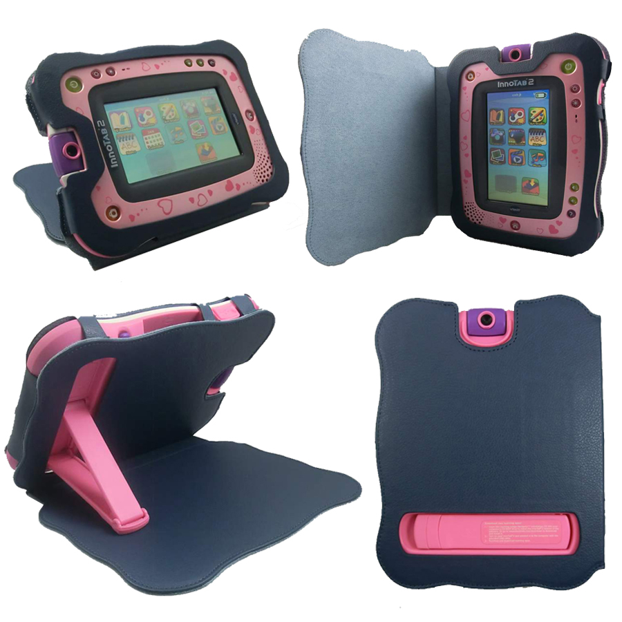 All in One Pink VTech InnoTab 3 Folio Protective Case /& Stand